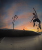 Sunset Action. (Merenda Mattia) Tags: gopro 5black catanzaro italy italia sunset tramonto roller pattini gaslini parco salto sole nuvole