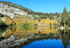 George Lake Reflections, Sierra Nevada 2016 (inkknife_2000 (8.5 million views +)) Tags: mammothlakes lakegeorge fallfoliage waterreflections dgrahamphoto usa landscapes bluesky stillwater california sierranevada mountains alpinelakes