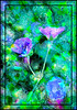 A Few Lingering Blossoms...HSS! (LotusMoon Photography) Tags: painterly digitalpainting flowers floral framed purple green summer garden nature texture photomanipulation photoart slidersunday hss annasheradon lotusmoonphotography