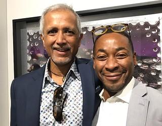 Frank Khuchani with PAMM director Franklin Sirmans at Art Basel Miami Beach