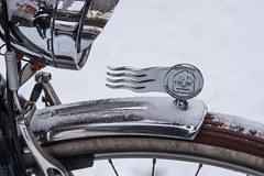 Diamant - Fahrradwerke Chemnitz (suzanne~) Tags: bike bicycle fahrrad diamant chemnitz snow wheel logo winter detail 100bicycles project