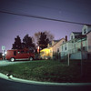(patrickjoust) Tags: mamiya c330 s sekor 80mm f28 fujichrome astia 100f tlr twin lens reflex 120 6x6 medium format fuji chrome slide e6 color reversal expired discontinued film cable release tripod long exposure night after dark manual focus analog mechanical patrick joust patrickjoust maryland md usa us united states north america estados unidos red van house home american flag