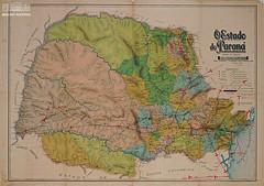 Mapa do estado do Paraná (Arquivo Nacional do Brasil) Tags: mapa mapaantigo cartografia oldmap map cartography paraná estadodoparaná história memória históriadoparaná arquivonacional arquivonacionaldobrasil
