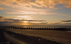 Sunset (♥ Annieta  pause) Tags: annieta juli 2017 sony a6000 holiday vakantie england scotland uk greatbritain lossiemouth sunset zonsondergang lucht sky wolk cloud sea zee allrightsreserved usingthispicturewithoutpermissionisillegal