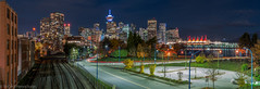 Vancouver Nightscape-13 (Robert Henrickson) Tags: vancouverisawesome vancouver nightscapes skyline cityscapes citylights nightlights nightphotography longexposure lowlight panorama ilovebc downtown canadaplace lookout railtown lightrails