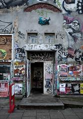 HH-Installations 1964 (cmdpirx) Tags: hamburg germany reclaim your city urban street art streetart artist kuenstler graffiti aerosol spray can paint piece painting drawing colour color farbe spraydose dose marker stift kreide chalk stencil schablone wall wand nikon d7100 installation install cement glue kleber klebstoff tile kachel styrodur styropor vinyl lp cd style guerilla knitting yawn bombing tape inst cutout yarn