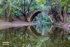 Kelefos bridge (Andreas Iacovides) Tags: kelefos bridge reflection river canon eos 5d mark ii