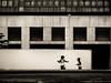 jeux d'enfants (photosgabrielle) Tags: photosgabrielle sepia montréal monochrome kids enfants streetphotography hank you thank