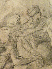 POUSSIN Nicolas (Attribué) - Eliezer et Rebecca (drawing, dessin, disegno-Pontoise) - Detail 16 (L'art au présent) Tags: art painter peintre details détail détails detalles painting paintings peinture peintures 17th 17e dessins17e 17thcenturydrawings 17thcentury tableaux pontoise iledefrance museum nicolaspoussin france paris femme woman robe dress dresses grace graceful grâce jeunefemme youngwoman youngwomen servant servante bible man men hommes youth tête heads head jeune young figure personne people