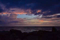 San-Cap Cut Sunset Storm October 2017 (Will-Jensen-2020) Tags: blindpass wulfertchannel thecut sancap west gulfofmexico gulf water clouds sky storm rock breakwater beach cut sunset sanibel captiva florida usa