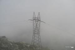 Power pylon in the fog. (Κώστας Καϊσίδης) Tags: powerpylon powerlines power fog mountain greece hellas outside landscape mtpentelikon scenery mountpentelikon penteli attica energy