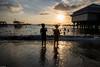 After-school water joys (Vagabundina) Tags: water beach ocean sea kids children sunset goldenhour ladnscape scenery nikon nikond5300 dsrl asia southeastasia indonesia lombok