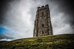Towering (The Frustrated Photog (Anthony) ADPphotography) Tags: architecture category england external glastonbury glastonburytor places somerset travel greatbritain britain uk unitedkingdom hill grass sky clouds cloudysky canon70d canon canon1585mm outdoor travelphotography landscapephotography ruin decay church tower