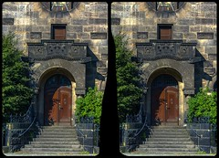 Church of Reconciliation, Dresden-Striesen / CrossEye 3-D / Stereoscopy / HDR / Raw (Stereotron) Tags: saxony sachsen dresden elbflorenz versöhnungskirche striesen schandauerstrase neoromanik neuromanisch historismus hyperstereo crosseye crosseyed crossview xview cross eye pair freeview sidebyside sbs kreuzblick 3d 3dphoto 3dstereo 3rddimension spatial stereo stereo3d stereophoto stereophotography stereoscopic stereoscopy stereotron threedimensional stereoview stereophotomaker stereophotograph 3dpicture 3dglasses 3dimage twin canon eos 550d yongnuo radio transmitter remote control synchron kitlens 1855mm tonemapping hdr hdri raw
