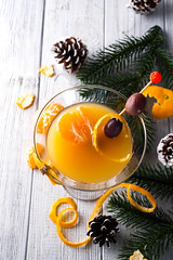 martini in a glass of New Year (lyule4ik) Tags: mandarin martini alcohol cocktail drink glass party beverage fresh fruit liquid orange sweet alcoholic bar citrus cold healthy ice refreshment slice vodka cool juice mixed tangerine celebration nobody liquor freshness advent christmas seasonal spicy taste wet winter food lime margarita refreshing tropical anise autumn brown brunch cinnamon dark drops iced