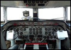 C-54E Cockpit (Dusty_73) Tags: aircraft aviation historic cockpit airplane warbird douglas c54 skymaster berlin airlift historical foundation military history spirit freedom united states