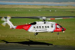 "G-MCGJ ""Coastguard936"" / Sikorsky S-92A (tomossmith86) Tags: coastguardhelicopter helicopters flying winch bristowsar coastguardrescuehelicopter sikorskis92 caernarfon helicopter bristow bristowcaernarfon northwales rotors hmcoasguard sikorskys92 coastguard bristowsaruk sikorsky dinasdinlle sikorski bristowhelicopters gwynedd egck bristowuk aviation rescue936 rescue rotary sky turbine jeta1 gmcgj caernarfonairport coastguard936 llanwnda wales unitedkingdom gb"