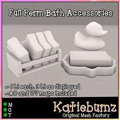 Full Perm Bath Accessories (~Katiebumz~) Tags: bath rubber duckie ducky toy mesh full perm permission katiebumz katiebums toys toddleedoo td soap bathbombs bathtime sl secondlife second life