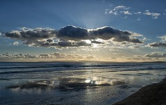 Reflections (Tilney Gardner) Tags: crepuscularrays boscombe bournemouth dorset nikon clouds southcoast lowtide sky