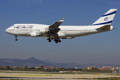 4X-ELH   El Al Israel Airlines   Boeing B747-412    CN 26555   Built 1996   BCN/LEBL 30/03/2017   ex EC-LGL, 9V-SPH (Mick Planespotter) Tags: aircraft airport nik sharpenerpro3 2017 4xelh el al israel airlines boeing b747412 26555 1996 bcnlebl 30032017 eclgl 9vsph b747 jumbo elal barcelona elprat