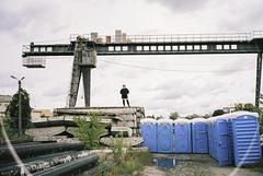 (trom.pom) Tags: 35mm analog filmphotography contaxt2 bravefactory bravefactoryfestival industrial kyiv kiev ukraine girlsonfilm girl landscape factory