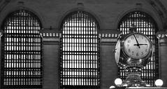3 to 3 pm (gerard eder) Tags: world travel reise viajes america northamerica usa unitedstates newyork grandcentral clock windows bw blackandwhite blackwhite