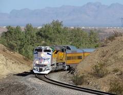 UP 1943 West, PCBOA3 16 (Jake Siegel (PHX Sub Railfanner)) Tags: special passenger sd70ace sd70ah railfan railroad unionpacific hike scenery arizona beautiful flag american america veterans honor 1943 up1943