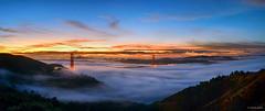 Low Autumn Fog (Joseph Greco) Tags: goldengatebridge marinheadlands sanfrancisco fog dawn sunrise morning clouds weather bluehour twilight