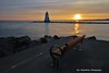What a pity, I used to sit there and watch the sunrise (Rex Montalban Photography) Tags: rexmontalbanphotography sunrise lighthouse bench portdalhousie