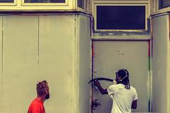 Number 74 (Rockman of Zymurgy) Tags: upfest 2017 street art bedminster bristol graffiti illustration artist stencil spray paint sticker paste