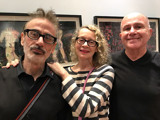Journalist Alfredo Triff with wife Rosie Inguanzo and artist Cesar Trasobares at the LnS Gallery opening
