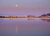 Alignment (ajecaldwell11) Tags: xe3 sunset ankh water port buildings moon fujifilm light hawkesbay newzealand napier sky ahuriri fullmoon caldwell tide clouds