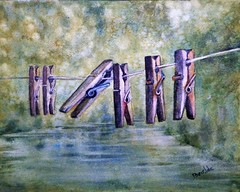 pinzas (benilder) Tags: paisaje landscape wetonwet húmedosobrehúmedo pinzas clothespegs pinceàlinge acuarela watercolor watercolour aquarelle