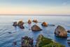 Nugget Point (stewartbaird) Tags: glow blue newzealand beautiful landscape nature otago sundown sunset catlins seascape sea nuggetpoint rocks