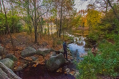 1338__0626FLOP (davidben33) Tags: brooklyn 718 ny quotnew yorkquot quotprospect parkquot autumn 2017 fall trees bushes leaves lake pets gooses ducks water sky clouds colors yellow green blue people quotstreet photosquot