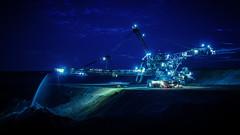 Tagebau Inden - Absetzer 754 (Werner Thorenz) Tags: inden tagebau absetzer schophofen schaufelradbagger excavator bagger eveningatmosphere abendstimmung
