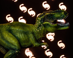 "Week 47 - Shaped Bokeh: ""Counting Dinosaurs"" (Caleb McCary) Tags: bokeh shaped dinosaur toy dogwood2017 dogwood2017week47 canon 85mm canonbringit eos80d"