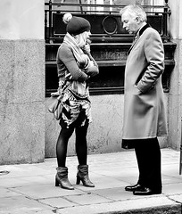 When Words Don't Work (jaykay72.) Tags: london uk street candid streetphotography londonist cornhill stphotographia blackandwhite bw