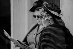 1940's Vintage English Ladies ( Reenactors ) (Lauren Taliana) Tags: historical mono reenactors bletchleypark 1940's portrait vintage people ladies blackwhite bw blackandwhite nikkor flickr elements