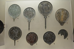 Rome, Italy - Villa Giulia (Etruscan Museum) - Bronzework (jrozwado) Tags: europe italy italia rome roma villagiulia museum archaeology etruscan bronze bronzework mirror handmirror