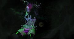 Devour (Alexandra Nevermind (devereaubeauregard)) Tags: exile azoury enchanted enchantedsl sl secondlife slblogging slfashion avi avatar virtualworld virtuallife zibska cureless disorderly hair spooky monster night dark aii blackone drag cx cerberusxing