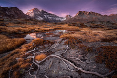 Dry Autumn (Perez Alonso Photography) Tags: france landscapes night sunset bluehour reflection mountains vanoise autumn