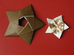5-pointed stars (Mélisande*) Tags: mélisande origami star modular