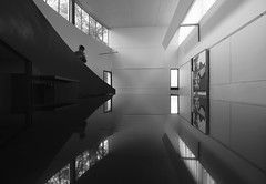 Villa La Roche (updownmo) Tags: ramp windows architecture blackandwhite reflection lecorbusier paris form space shapes angles objects perspective human individual original photo digital art materials different reflections mirror nature