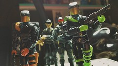 Headhunters (L.A. November 2019) Tags: gijoe def collection toys vintage 80s 90s actionfigures cobra neon thugs street police bust crime diorama america drugs war pushes narco dealer level shotgun criminals bodyguards henchmen visors gold beret pumpaction 118