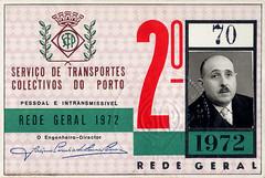 STCP Porto passe da rede geral - 1972 2o semestre (© Portimagem) Tags: portugal patrimónionacional historia transportes porto stcp eléctricos redegeral passe bilhetedeassinatura