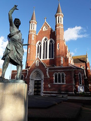 St John the Evangelist Cathedral and statue, Portsmouth (Pjposullivan1) Tags: stjohntheevangelist cathedral catholiccathedral portsmouth gothicrevivalarchitecture statue portsmouthcathedral