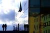 Alle volte, alla svolta... (meghimeg) Tags: 2017 savona scala stairs coppia couple vetro glass reflection riflesso finestra window colori colors cielo sky persone people