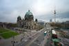 Berliner Dom und Fernsehturm (mompl) Tags: berlin mitte schloss stadtschloss unterdenlinden baustelle berlinerdom fernsehturm altesmuseum lustgarten