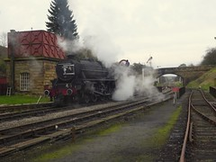 Goathland (feroequineologist) Tags: 44806 black5 goathland northyorkshiremoorsrailway nymr lms railway train steam